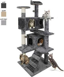 Nova Microdermabrasion 53 Inches Multi-Level Cat Tree Stand